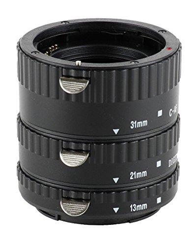 """Automatik Zwischenringe """"3-teilig 31mm, 21mm & 13mm"""" fuer Makrofotographie fuer Canon EF/EF-S EOS 1200D, 1100D, 1000D, 700D, 650D, 600D, 550D, 500D, 450D, 400D, 350D, 300D, 100D, 70D, 60D, 50D, 40D, 30D, 20D, 10D, 7D, 6D, 5D-, 1V-, 1D-Serie"""