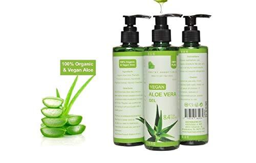 100% Aloe Vera Gel, Organische und Vegan Soothing Gel für Haut und Haar, 250 ml | Premium Qualität | Aloe Plus von Secret Essentials
