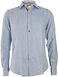 DESIGUAL Herren Designer Hemd Longsleeve Shirt - CALOR -