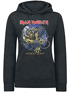 Iron Maiden Eddie Chained - Legacy Jersey con Capucha Mujer Negro