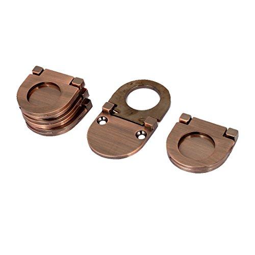 sourcingmap® 5Stk Schrank Brust Schubladen Metall Spülen Montage Ziehen Ring Griff Kupfer DE de -