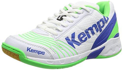 Kempa - Attack Three Women, Scarpe Pallamano da donna Multicolore (weiß/kempablau/fluo grün)