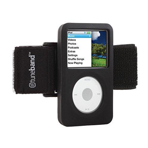 Grantwood Technology Tuneband für iPod Classic (Modell A1238, 80GB/120GB/160GB), schwarz, mit Armband und der Technologie Silikon Haut