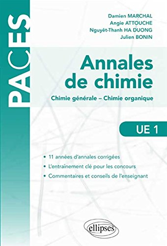 Annales de Chimie UE1 PACES Chimie Générale Chimie Organique
