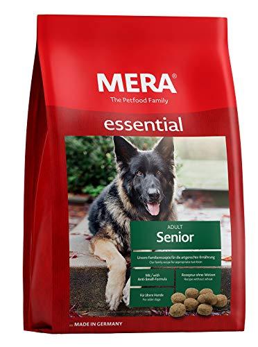 MERA essential Hundefutter Senior, Trockenfutter mit einer Rezeptur ohne Weizen für ältere Hunde, 1er Pack (1 x 12.5 kg)