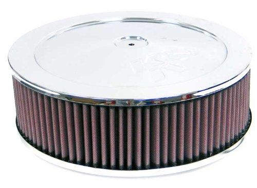 60–1050K & N rund Air Filter Montage, 3–1/16flg, 17,8cm D; 7,6cm H ASSY. W/Vent (echtes KN Zubehör)