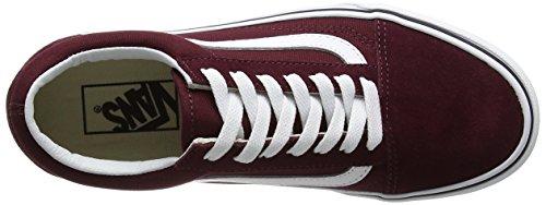 Vans Old Skool Platform, Scarpe Running Donna Rosso (Port Royale/true White)