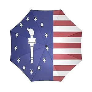 Fashions Vintage USA American Flag Anti Rain Windproof