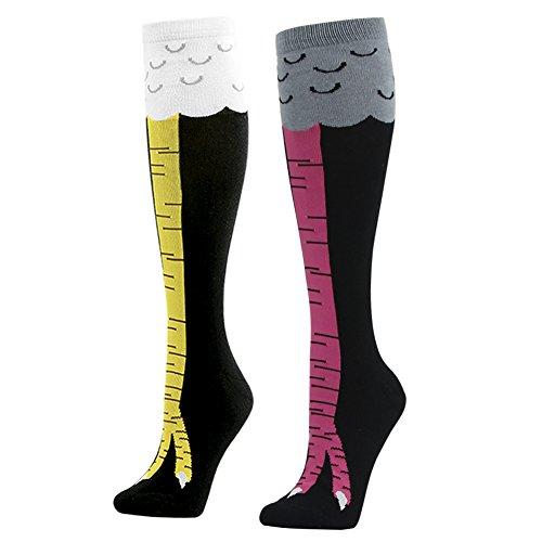 tüm Tier Socken Kniestrümpfe Hühnerfüße Strumpf für Damen Herren von Gmark,Größe 37.5-42.5 (Guten Arbeitsplatz Kostüme)