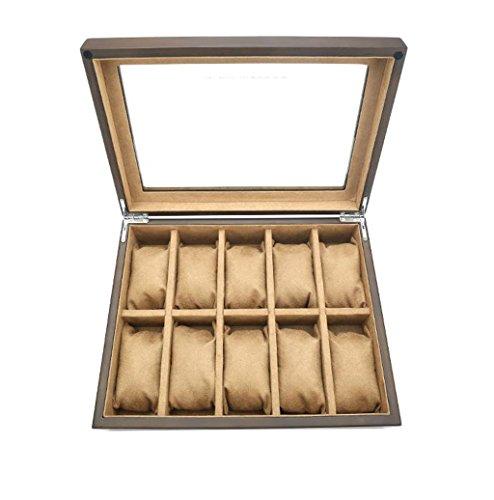 RKY Schaukasten Uhrenbox - Zehn Tisch Uhrenbox Schmuck Aufbewahrungsbox Uhr Taschenuhr Display Box Uhr Aufbewahrungsbox /-/