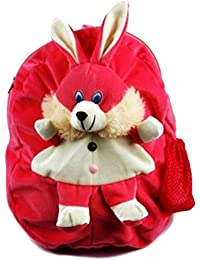 Skky Bell Dog Cute Teddy Soft Toy School Bag For Kids, Travelling Bag, Carry Bag, Picnic Bag, Teddy Bag (velvet...