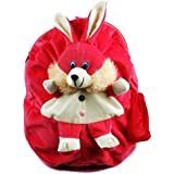 Sana Kids School Bag Soft Plush Backpack Cartoon Toy, Children's Gifts Boy Girl/Baby/Decor School Bag For Kids (Pink Rabbit)