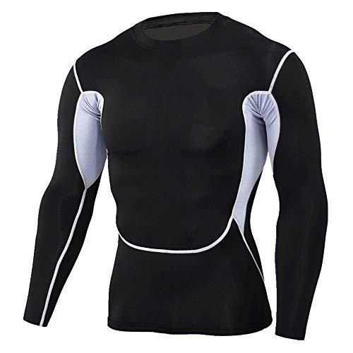MEIbax Camiseta Blusa de Secado rápido Hombre Camuflaje Faja Reductora Adelgazante Reductora Compresion Interior Manga Larga Fitness Gimnasio Aire Libre Ciclismo Ropa de Sauna Deportiva T Shirt