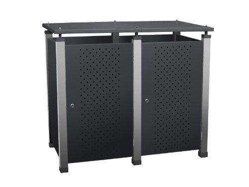 *Mülltonnenbox Modell Pacco E für zwei 120 Liter Tonnen*