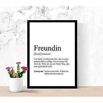 """Print""""FREUNDIN"""", Definition, Bild, Din A4, Druck, personalisierbar"""