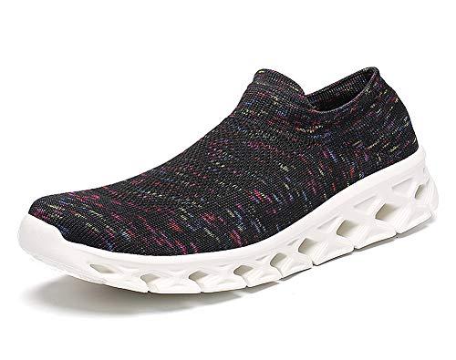 Aitaobao Damen Bequemes Strick Material Laufschuhe Atmungsaktiv Leichte Joggen Geeignet Herren Socken Stil Turnschuhe