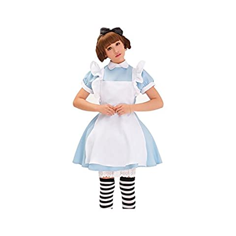 New Blue Alice's Wonderland Lolita Maid Cosplay Costumes Fancy Dress Set Apron