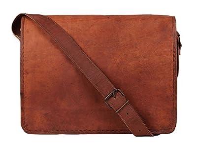 CLASSIC HANDICRAFT traditionnel fait main de qualité supérieure cartable en cuir sac notebook sac bandoulière sac porté épaule sacoche Pour les hommes et les femmes au bureau d'affaires École et collè