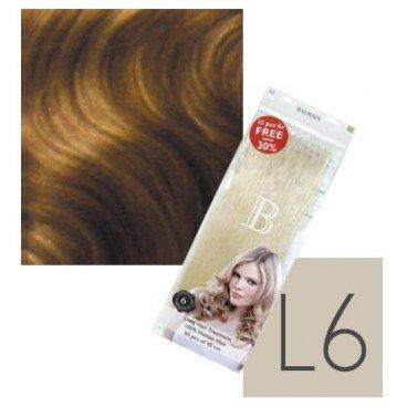 Paquet de 50 Extensions Kératine Cheveux Naturels balmain N°L6 40 CM