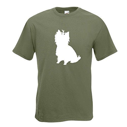 KIWISTAR - Yorkshire Terrier Hunderasse T-Shirt in 15 verschiedenen Farben - Herren Funshirt bedruckt Design Sprüche Spruch Motive Oberteil Baumwolle Print Größe S M L XL XXL Olive