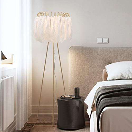 Lampadaires- Nordic feather lampadaire chambre simple salon moderne vertical créatif facile à entretenir taille de la lampe de table: 150cm * 42cm