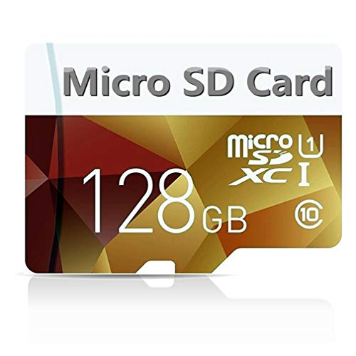 Scheda di memoria Micro SD SDXC da 128 GB, classe 10, con adattatore Micro SD da 256 GB, progettata per smartphone Android, tablet e altri dispositivi compatibili con MicroSDXC