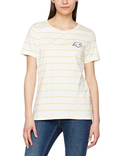 ONLY Damen T-Shirt Onlsara S Top Ess Mehrfarbig (Cloud Dancer Stripes:Yolk