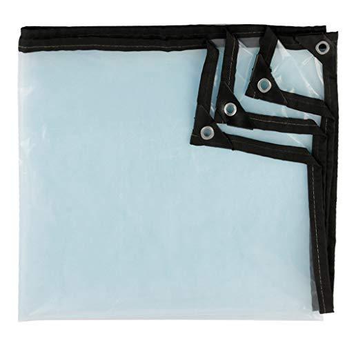 Lona de plástico acolchada, transparente, de lona, a prueba de agua, con cubierta de polvo de granero al aire libre, cubierta para el suelo, antihúmedo, balcón, ventana, suculenta, poncho frío, 100