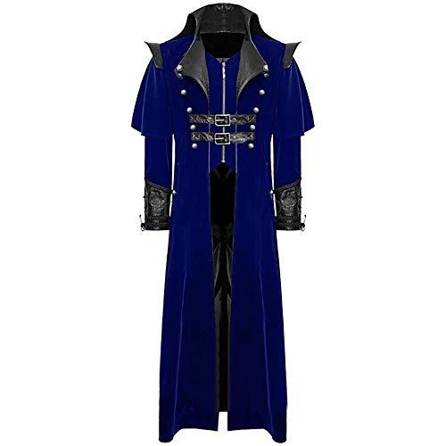 Batnott Herren Winterjacke Rot Warm Oversize Langarm Frackjacke Gothic Gehrock Uniform Kostüm Party Outwear Mantel Mäntel Outwear Mens Parka Große Größen Männer Overcoat 3XL XXXL