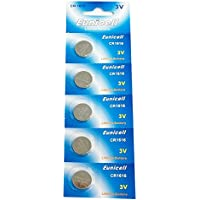 Eunicell CR1616Lithium Blister Pack 3V 3Volt Knopfzelle Batterien (5PCS) preisvergleich bei billige-tabletten.eu