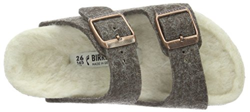Birkenstock Arizona, Mules Mixte Enfant Marron (Cacao Happy Lamb Beige)