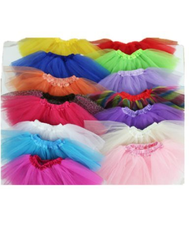 Buenos Ninos Three Layers Organza Baby Girl Tutu skirt Petticoat skirt Party Dress Dancewear 2-8 Years Assorted Colors