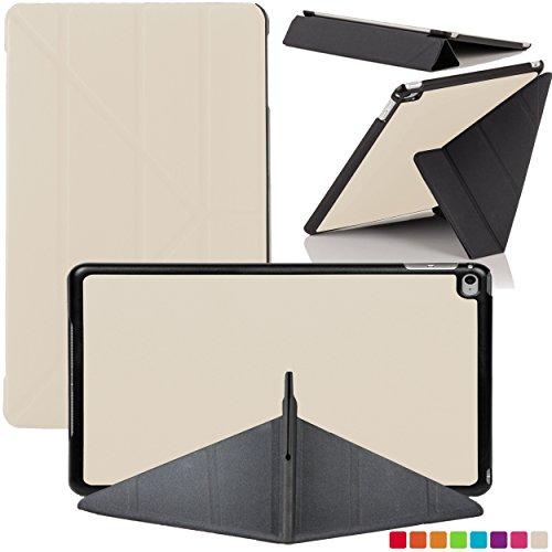 Creme-kamera-tasche (Forefront Cases Apple iPad Air 2 (2nd Generation 2014) Origami Hülle Schutzhülle Tasche Smart Case Cover Stand - Ultra Dünn Leicht Rundum-Geräteschutz Smart Auto Schlaf Wach Funktion (WEIß))