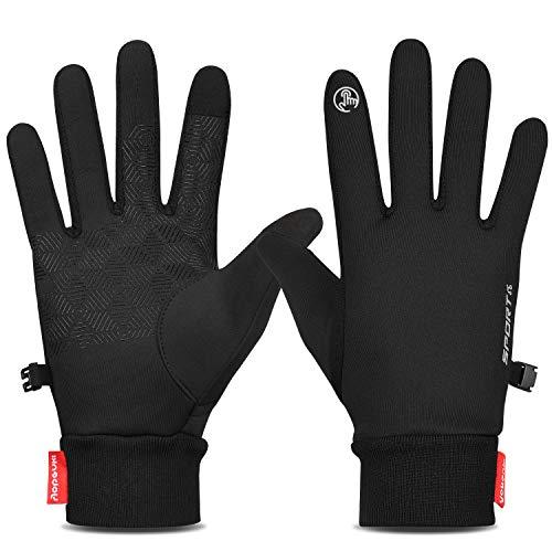 Yobenki Touchscreen Handschuhe, Sport Handschuhe für Herren und Damen,Winter Outdoor Handschuhe, Warm Laufhandschuhe, Reithandschuhe Geeignet für Winter Herbst Frühling