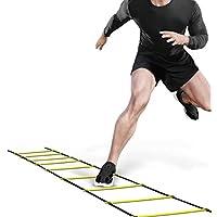 Ohuhu® Echelle Agilité/Echelle de Coordination/Ladder/Echelle Football avec Valise Noire pour Les Exercices de Vitesse et de Coordination