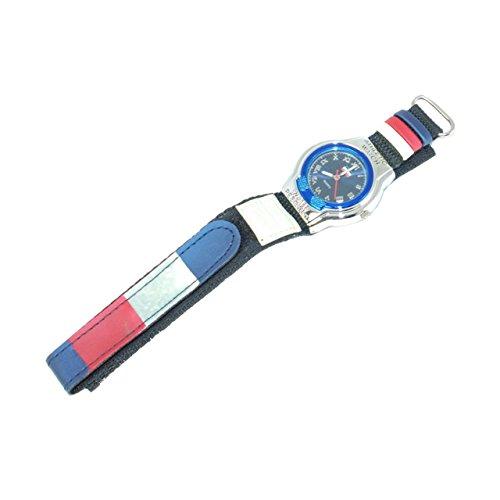 BOXX blau und rote Jungen Sportuhr mit Klettarmband