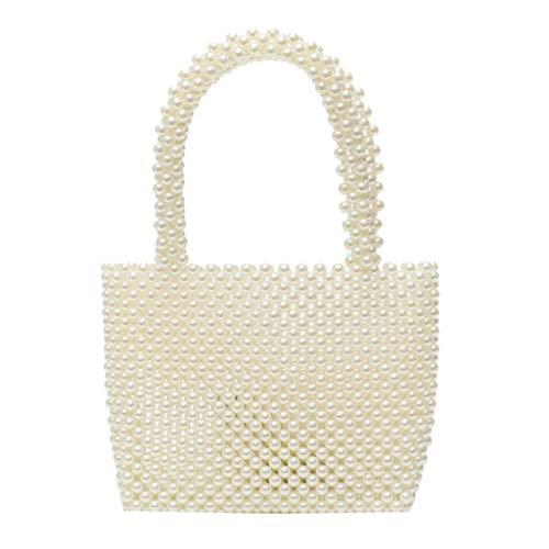 DIMPLEYA Handtasche FüR Frauen Handy Brieftasche Tasche Perle Handtasche Woven Bag Handmade Perlen Mode Hochzeit Party Tanzparty TäGliche Freizeit - Perlen-geldbörse Handtasche Tasche