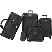 American Explorer 2724460000000 Softside Spinner Luggage set of 5 Pieces - Black
