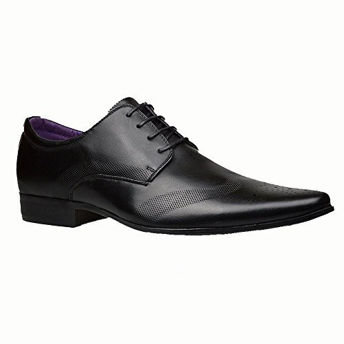 Robelli Men's Fashion Faux Leather Formal Shoes, 8 UK - Black