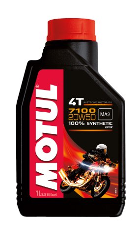 Motul 104103 7100 4T Fully Synthetic Ester 20W-50 API SN...