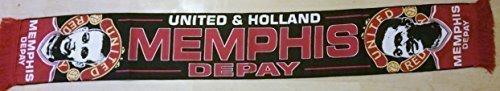Memphis Depay jugador bufanda diseño plano