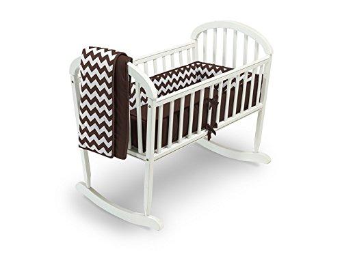 Baby Doll Bedding Chevron Cradle Bedding Set, Brown by BabyDoll Bedding