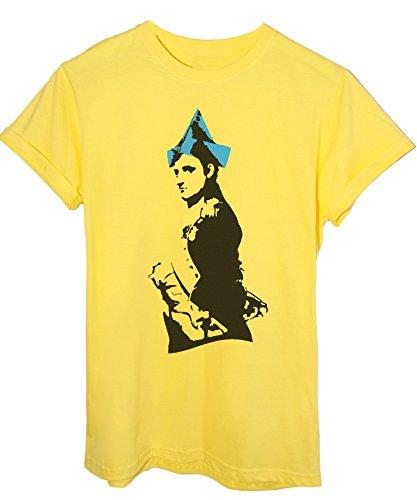 Hut Gelb T-shirt (iMage T-Shirt Banksy Napoleon Hut - Berühmte Herren-M - Gelb)