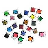20 kleine Pigment-Stempelkissen in 20 verschiedenen Farben