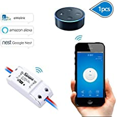EVILTO Sonoff DIY Wireless Smart Switch Smart Home Controllato Interruttore Intelligente WiFi Domestica Telecomando per iOS Android App Elettrodomestico