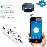 EVILTO Sonoff DIY Wireless Smart Switch Smart Home Controllato Interruttore Intelligente WiFi Domestica Telecomando per iOS Android App Elettrodomestico (1 Pcs)