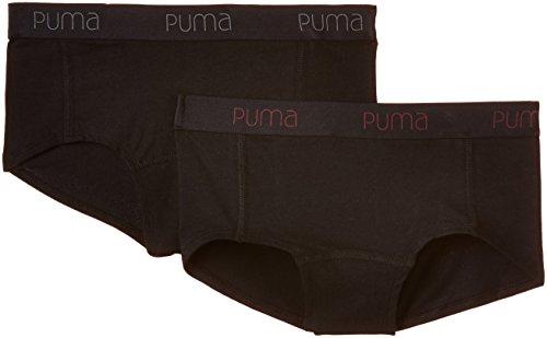 Puma Damen Sportunterhose Basic 2er Pack, 643052001 Double Black