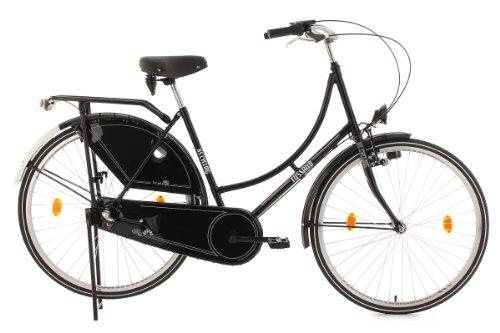 KS Cycling Damen Fahrrad Hollandrad Tussaud 3-Gänge, Schwarz, 28, 300H