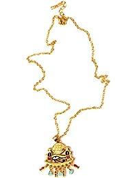 Collar Colgante Cadena Ojo de Horus Cobra Ajustable Aleación Uinisex Color Oro