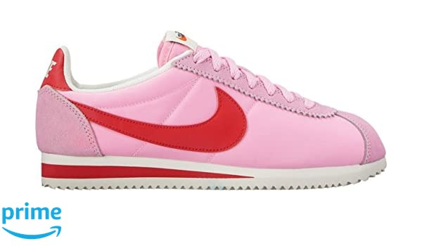 67500829fd5 NIKE Women s Classic Cortez Nylon Premium Trainers  Amazon.co.uk  Shoes    Bags
